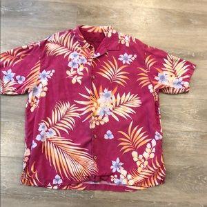Tommy Bahama Silk Hawaiian Print Button Down